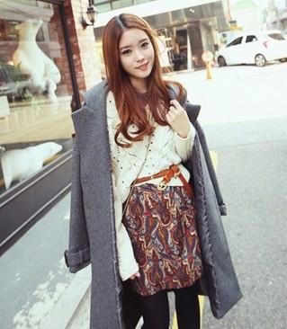 温暖时髦扮靓初冬 外套搭配针织衫  中的图片