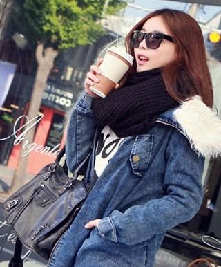 韩国嫩模 示范冬装时尚搭配 中的图片